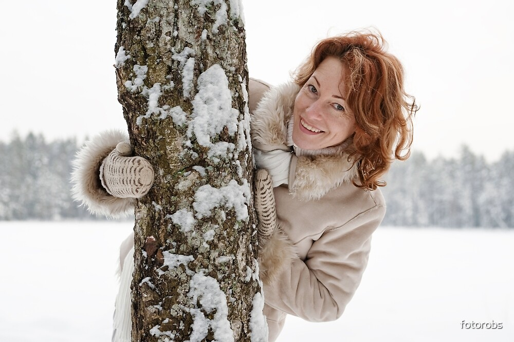Winters portrait by fotorobs