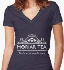 MoriarTea 2 Women's Fitted V-Neck T-Shirt