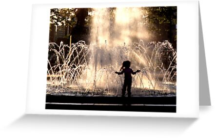 Fountain Silhouette by Russ Styles