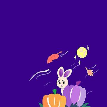 Pumpkin Patch Bunny by Sam Buse by pizzakeicute