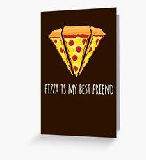 Diamond Pizza Greeting Card