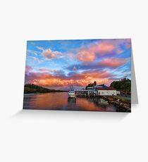 Woy Woy sunset Greeting Card