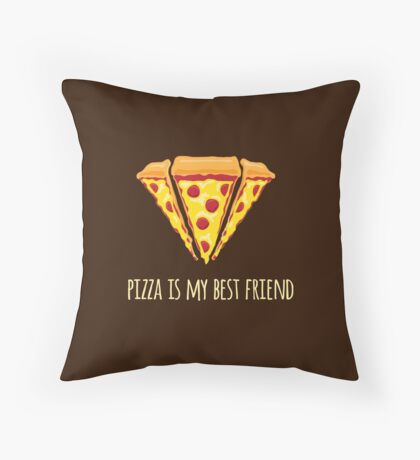 Diamond Pizza Throw Pillow