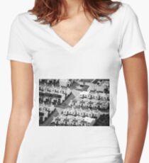 symmetric Women's Fitted V-Neck T-Shirt