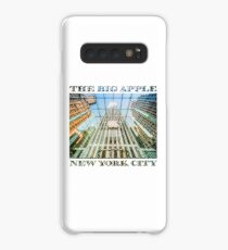 Big Apple in the Big Apple (poster on white) Case/Skin for Samsung Galaxy