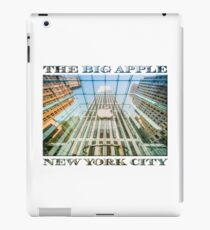 Big Apple in the Big Apple (poster on white) iPad Case/Skin