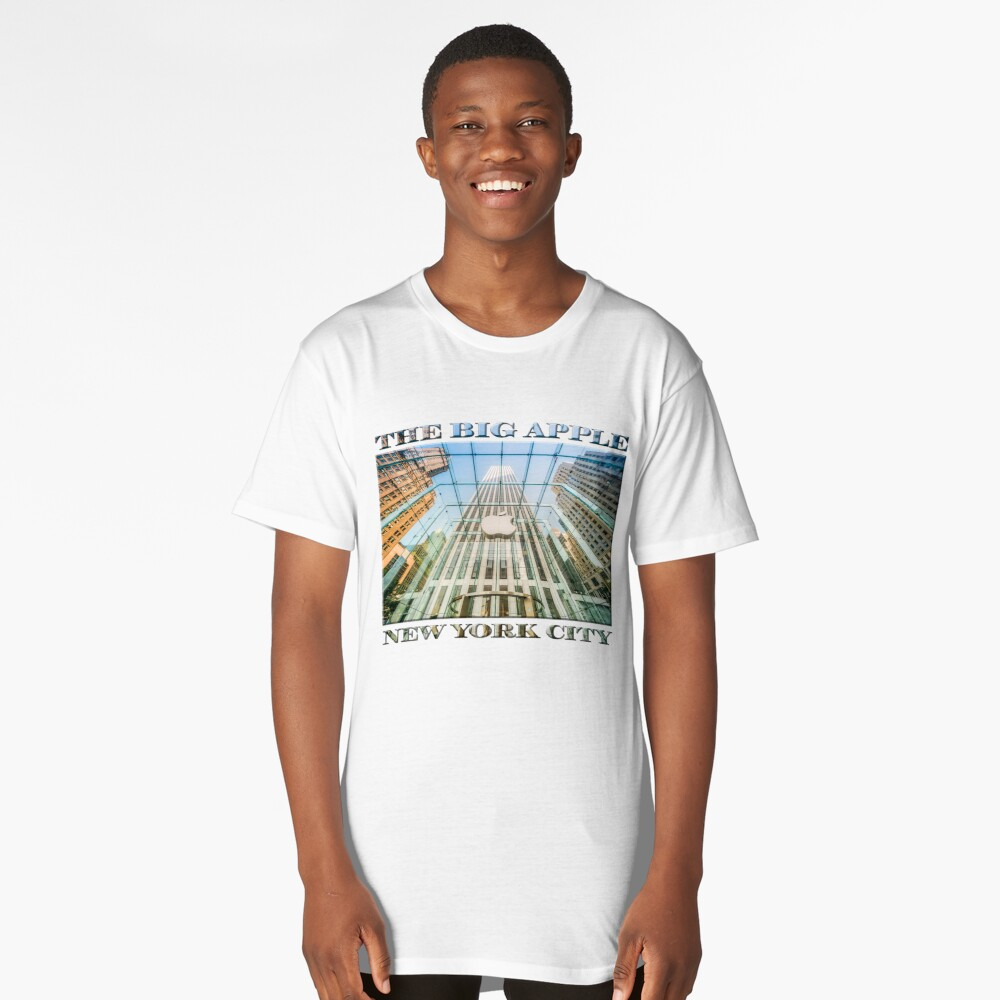 Big Apple in the Big Apple (poster on white) Long T-Shirt Front