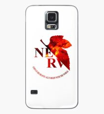 Space Genesis Evangelion 02 || Nerv Logo  Case/Skin for Samsung Galaxy