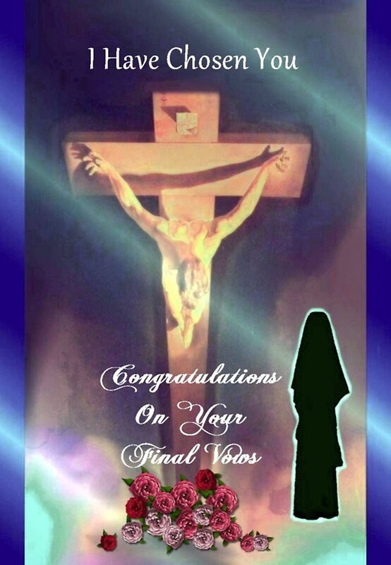 Quot Nun Final Vows Greeting Card Religious Profession