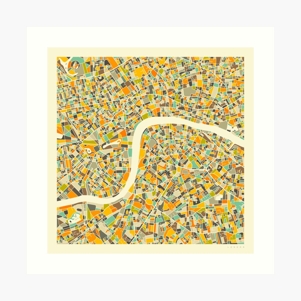 LONDON MAP (3) Art Print