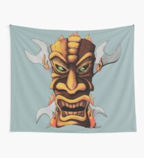 Tiki And Wrenches Wall Tapestry