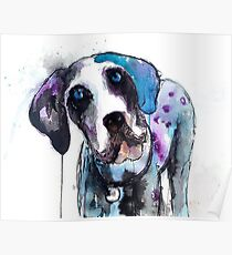 Purple Doggy  Poster