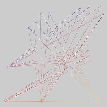 "Abstract Line Art ""Shall We Dance"" 10418 ? by mandalafractal"