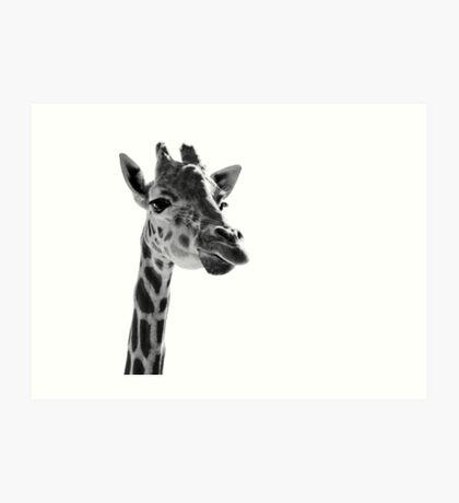Giraffe Expressionism Art Print