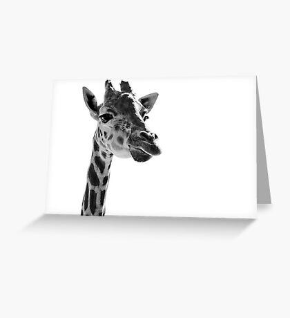 Giraffe Expressionism Greeting Card