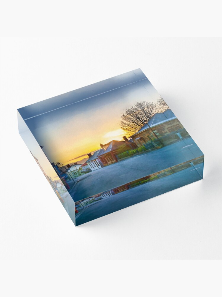 Alternate view of Sunrise at Battery Point Acrylic Block