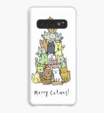 Merry Catmas Case/Skin for Samsung Galaxy