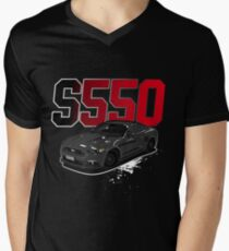 Ford Mustang S550 American Muscle Men's V-Neck T-Shirt