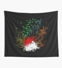 Elemental pokèball Wall Tapestry