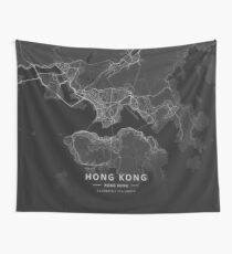 Hong Kong, Hong Kong Dark Map Wandbehang