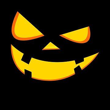 Halloween pumpkin psycho evil smile for men women and kids by Lunaco