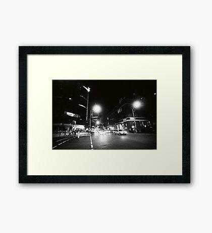 EDWARD & CHARLOTTE STREETS, 0315AM Framed Print