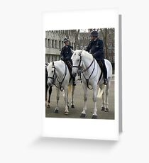 Mounted Police Greeting Card