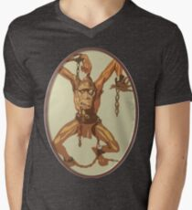 Shackled Prisoner Men's V-Neck T-Shirt
