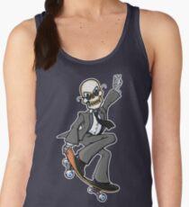 Skeleton Skateboard Business Women's Tank Top