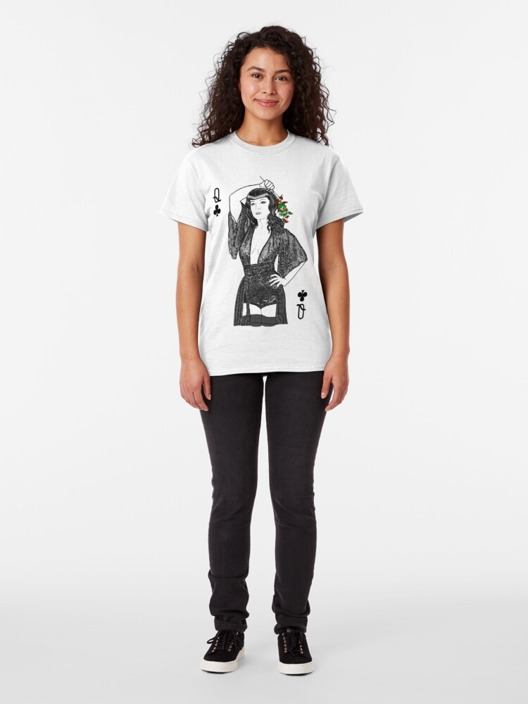 Alternate view of Queen of Clubs  Classic T-Shirt