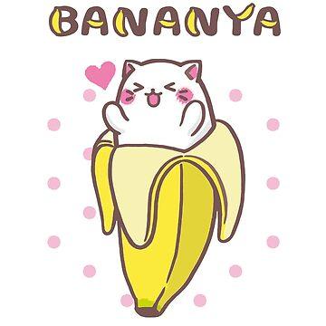 Bananya Banana Cat kawaii anime manga kitty by ryanturnley