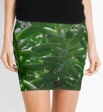 Green Succulent Mini Skirt