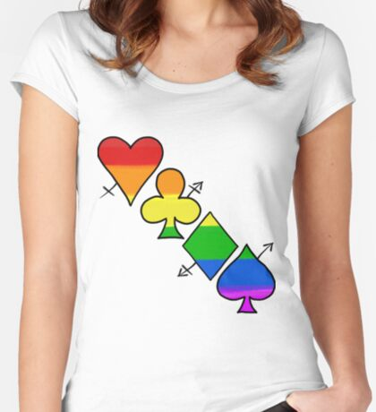LGBT Poker Fitted Scoop T-Shirt