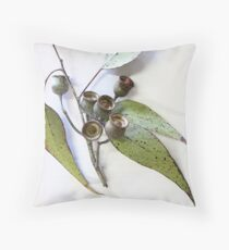 Australian eucalypt leaves and nuts Throw Pillow