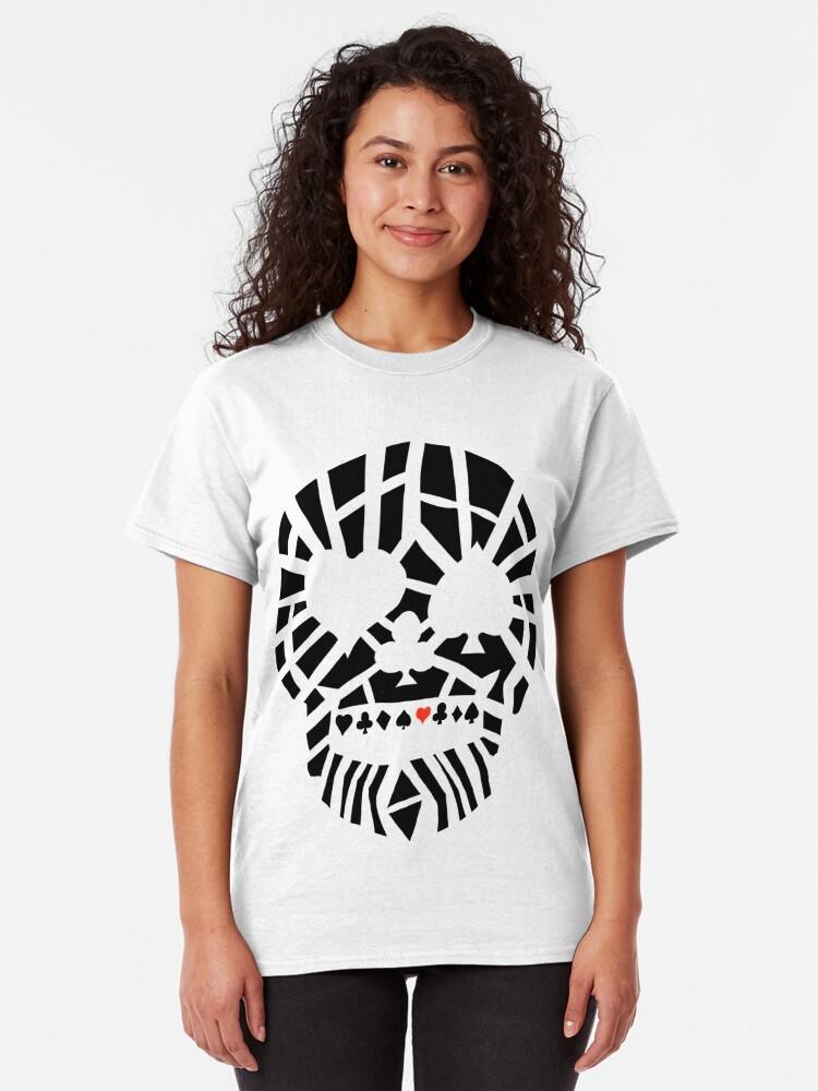 Alternate view of Fractured Poker Skull Classic T-Shirt