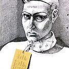 Serial number C3101805 - ink illustration by Donata Zawadzka