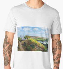 Moldovan Landscape. Naslavcha Men's Premium T-Shirt