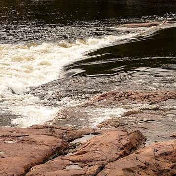 Rough and Smooth - Chiaroscuro Mississagi River Currents by GeorgiaM