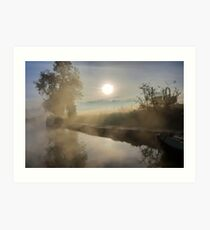 First Frosty Morning at Clifton-Upon-Dunsmore Art Print