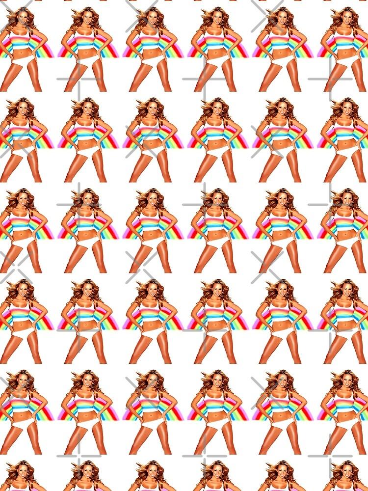 Abbildung Mariah Carey Regenbogen von Ilpiccololupo