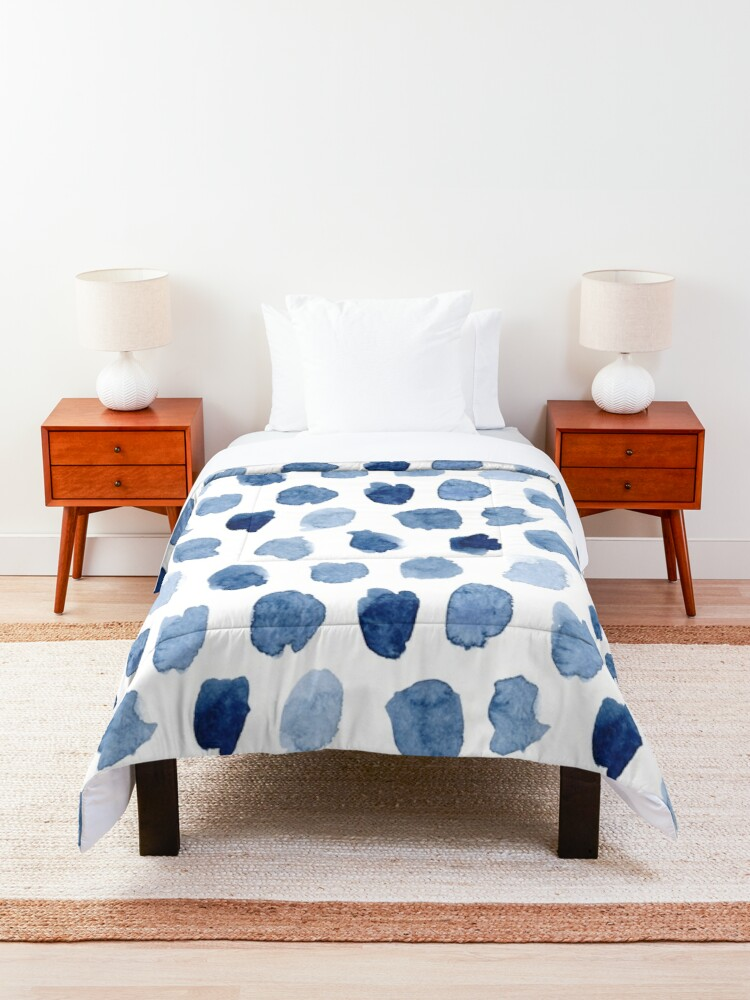 Alternate view of Indigo Love Comforter