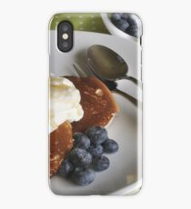 Crumpets, cream and blueberries iPhone Case/Skin