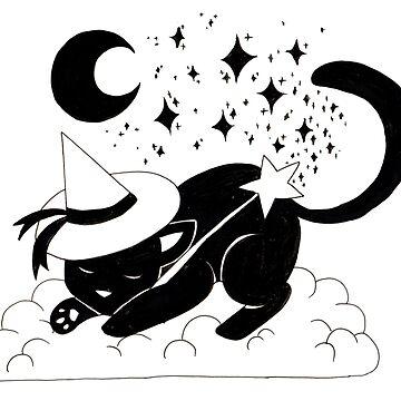Sleepy Wizard Kitty by srw110
