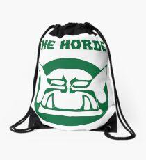 the horde Drawstring Bag