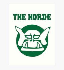 the horde Art Print