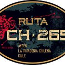 Ruta Ch-265 Chile T-Shirt & Sticker Motorcycle Design by ROADTROOPER