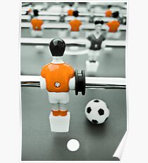 Table Football 02B - Defender | Orange Poster