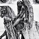 The Angel of Sorrow - ink illustration  by Donata Zawadzka