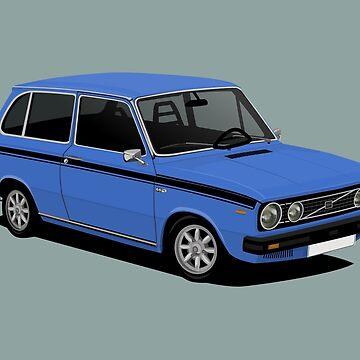 V 66 Combi - illustration - blue by knappidesign