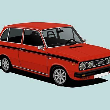 V 66 Combi - 66 Marathon illustration - red by knappidesign